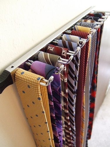 wooden necktie rack