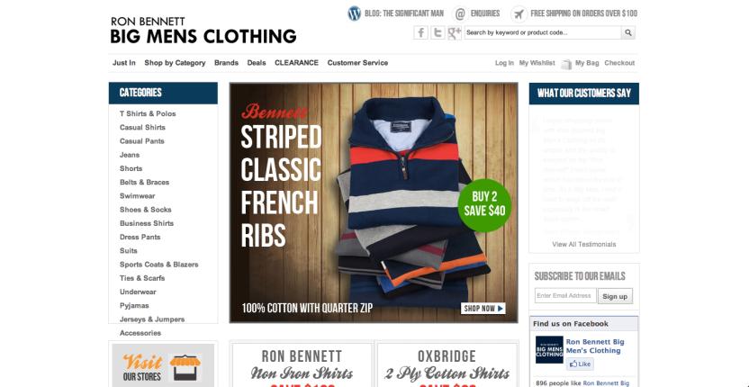 Ron Bennett Big Mens Clothing