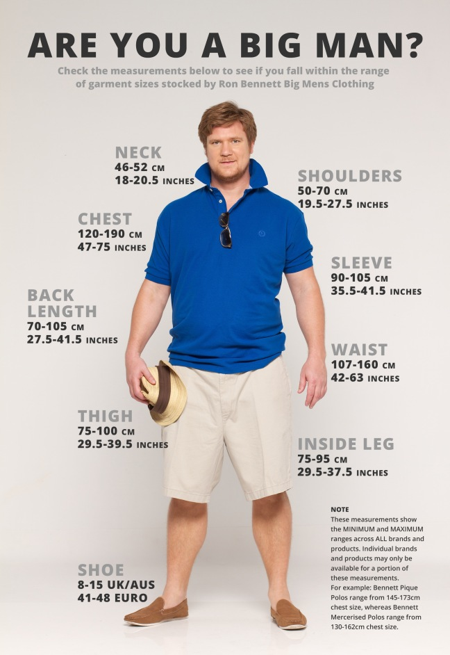 Ultimate size guide for big & tall men